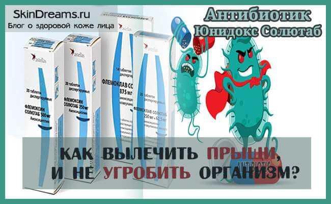 Антибиотик Юнидокс Солютаб от прыщей